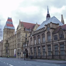 manchester; lancashire; landmark; universitry; building; gothic; gothic revival; tower; education; eductional; establishment; road; oxford road, learning, outside, big, exterior